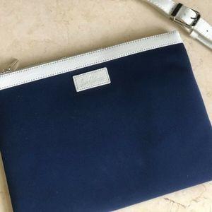 Sam Edelman Blue/White Soft Case Shoulder Bag